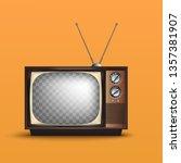 realistic tv retro style.80's... | Shutterstock .eps vector #1357381907
