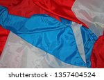 pieces of red  white and blue...   Shutterstock . vector #1357404524