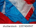 pieces of red  white and blue...   Shutterstock . vector #1357404947