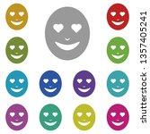 emoji in love multi color icon. ...