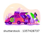 family vacations  all ages... | Shutterstock .eps vector #1357428737