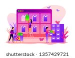 tag management system  e... | Shutterstock .eps vector #1357429721