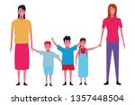 family and kids cartoons... | Shutterstock .eps vector #1357448504