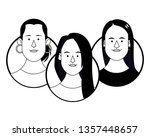 young people face round icons... | Shutterstock .eps vector #1357448657
