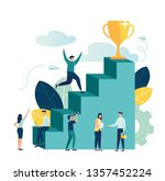 vector illustration  people run ... | Shutterstock .eps vector #1357452224