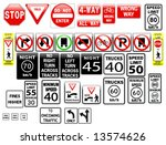 vector regulatory signs on the... | Shutterstock .eps vector #13574626
