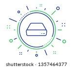 mini pc line icon. small... | Shutterstock .eps vector #1357464377