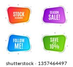geometric banners. save up to... | Shutterstock .eps vector #1357464497