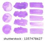 purple watercolor background ... | Shutterstock .eps vector #1357478627