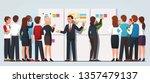 business boss man explaining... | Shutterstock .eps vector #1357479137