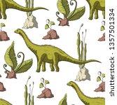 diplodocus dinosaur in its...   Shutterstock .eps vector #1357501334