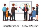 manager employee presenting new ... | Shutterstock .eps vector #1357523054