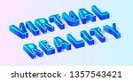 isometric vector 3d text... | Shutterstock .eps vector #1357543421