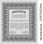 grey invitation template. with... | Shutterstock .eps vector #1357552394