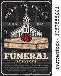 funeral service agency vintage... | Shutterstock .eps vector #1357555661