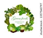 green food nutrition  color... | Shutterstock .eps vector #1357560797