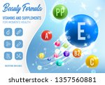 health vitamins  minerals and... | Shutterstock .eps vector #1357560881