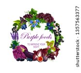 purple food nutrition  color... | Shutterstock .eps vector #1357563377