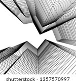 abstract architecture  vector... | Shutterstock .eps vector #1357570997