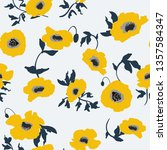 seamless pattern with spring... | Shutterstock .eps vector #1357584347