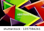squares and triangles... | Shutterstock .eps vector #1357586261