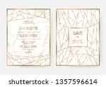 marble wedding invitation cards ... | Shutterstock .eps vector #1357596614