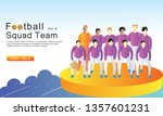 football squad team flat...