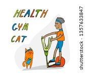 pet  sport. sports  fitness ... | Shutterstock .eps vector #1357633847