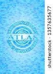 atlas realistic light blue... | Shutterstock .eps vector #1357635677