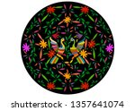 ethnic mexican tapestry with... | Shutterstock .eps vector #1357641074
