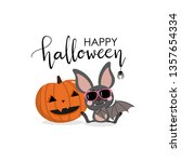 happy halloween party greeting... | Shutterstock .eps vector #1357654334