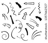 hand drawn arrows set on a... | Shutterstock .eps vector #1357662527