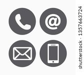 contact icons vector | Shutterstock .eps vector #1357663724