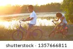the children is riding a... | Shutterstock . vector #1357666811
