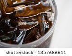 soft drinks with ice  ready to... | Shutterstock . vector #1357686611