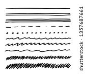 set of hand drawn lines text... | Shutterstock .eps vector #1357687661