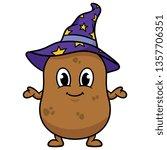 cartoon wizard potato | Shutterstock .eps vector #1357706351