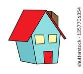 vector cartoon house | Shutterstock .eps vector #1357706354