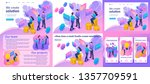 set template article  landing... | Shutterstock .eps vector #1357709591