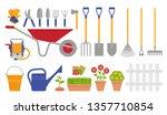garden tools. gardening set.... | Shutterstock .eps vector #1357710854