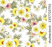 flower print. elegance seamless ... | Shutterstock .eps vector #1357725701