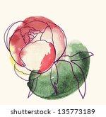 Vector Decorative Watercolor...