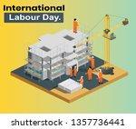 isometric artwork concept of... | Shutterstock .eps vector #1357736441