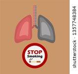 stop smoking concept. | Shutterstock .eps vector #1357748384