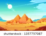 Giza Plateau Landscape With...