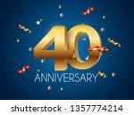 template logo 40 years...   Shutterstock .eps vector #1357774214