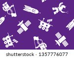 seamless space topic pattern... | Shutterstock .eps vector #1357776077