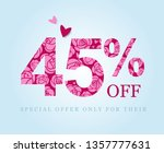 45   off. forty five percent... | Shutterstock .eps vector #1357777631