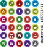 white solid icon set  scoop... | Shutterstock .eps vector #1357779461