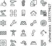 thin line vector icon set  ... | Shutterstock .eps vector #1357779827
